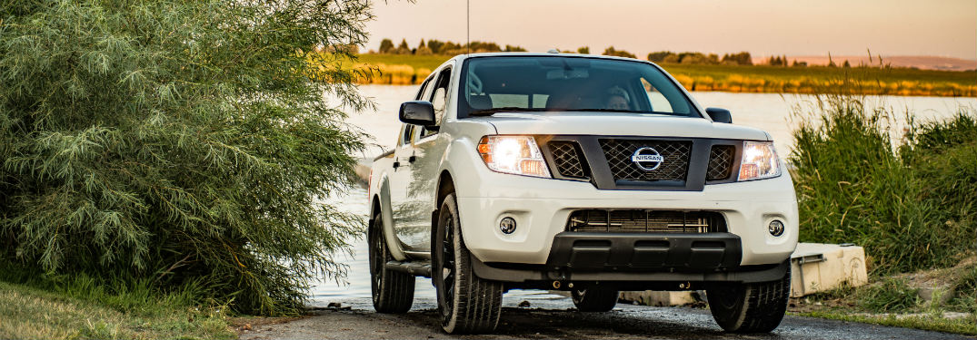 2019 Nissan Frontier in front of a lake
