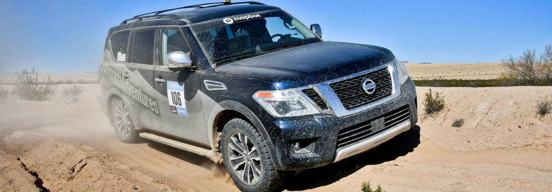 2018 Nissan Armada in the desert for the Rebelle Rally