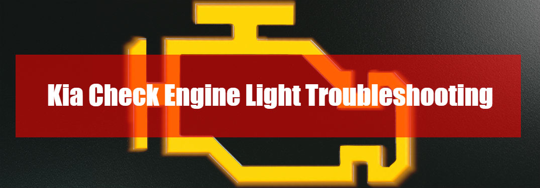 ... Kia Check Engine Light Troubleshooting As Text On Image Of Check Engine  Light Indicator