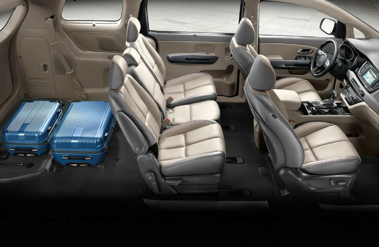 Dodge Grand Caravan Seating >> Interior Features of the 2018 Kia Sedona
