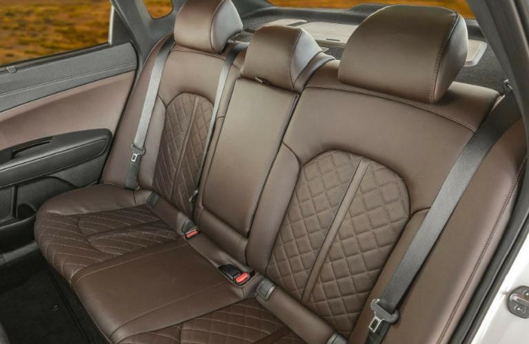 2018 Kia Optima's rear seats