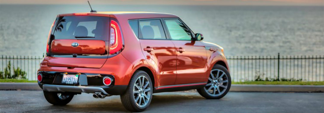 2018 Kia Soul Exterior Back Fascia and Passenger side with water in background