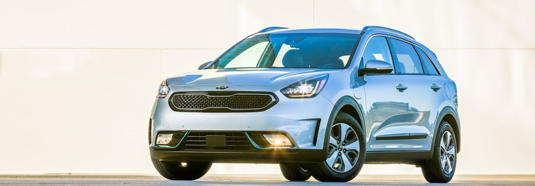 2019 Kia Niro driving down a rural road