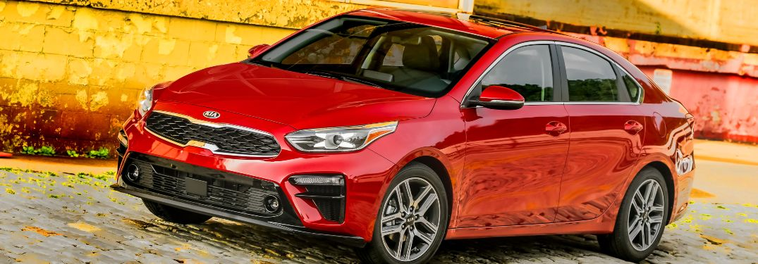 2020 Kia Forte parked in front of a building