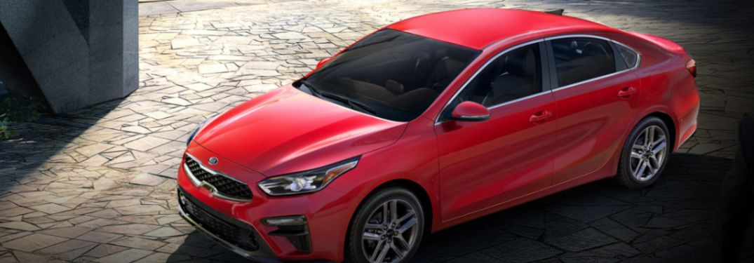 2020 Kia Forte parked in a plaza