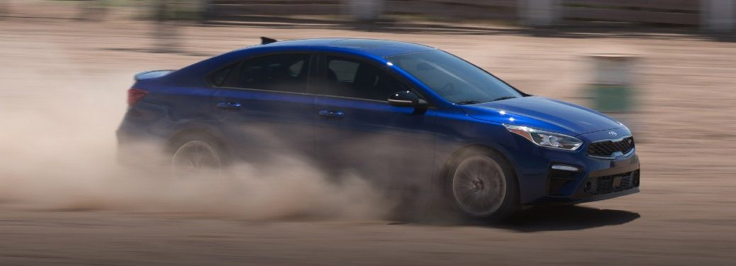 2021 Kia Forte driving off-road