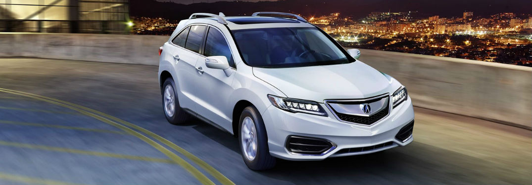 2018 Acura RDX model in white