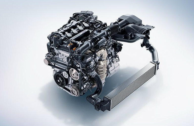 View of the 1.5L Turbo engine of a 2018 Honda Accord