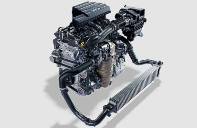 Image of the 1.5L turbo I-4 engine available on a 2019 Honda CR-V