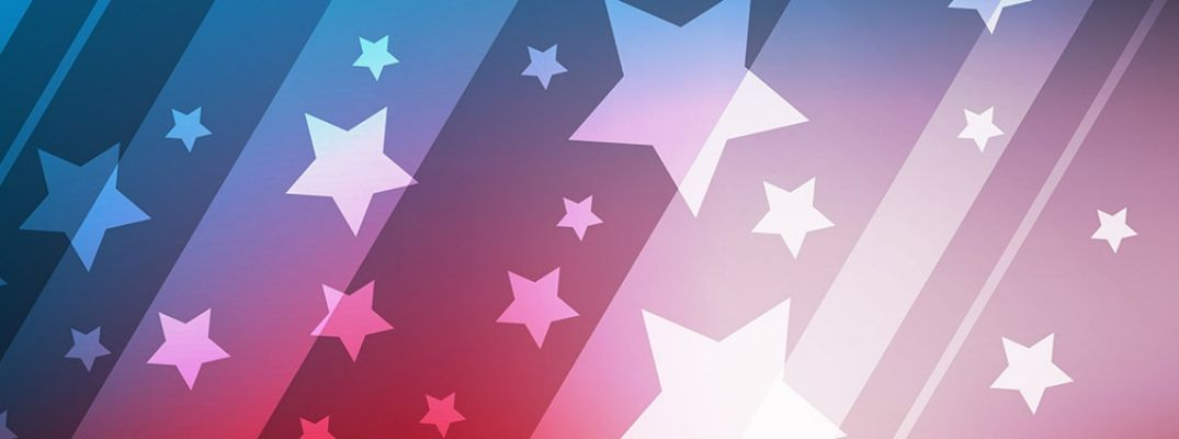 4th of July stars and stripes header