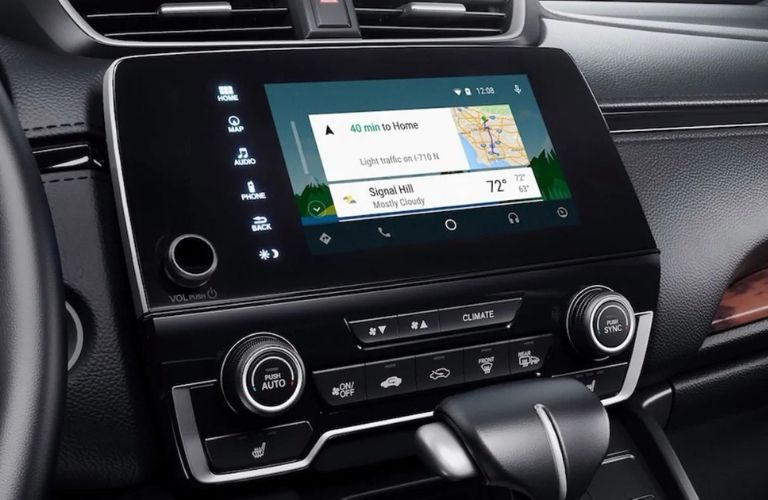 Closeup view of Android Auto™ on the Audio Display touch-screen in a 2019 Honda CR-V