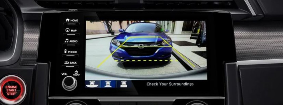 How does the Honda Multi-Angle Rearview Camera work?