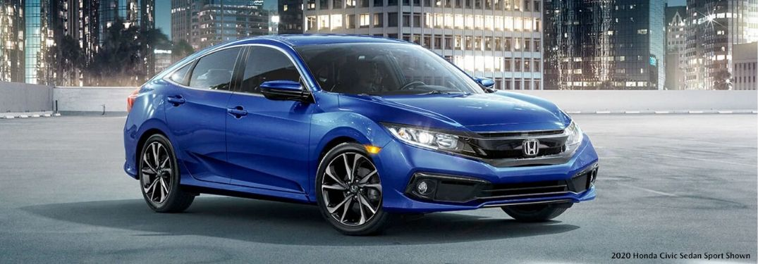 2020 Honda Civic Sedan Sport from exterior front passenger side