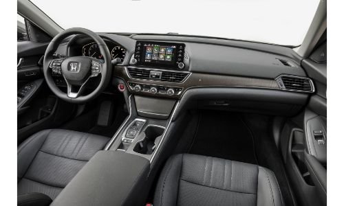 2020 Honda Accord Touring 2L top-down view of interior front of cabin
