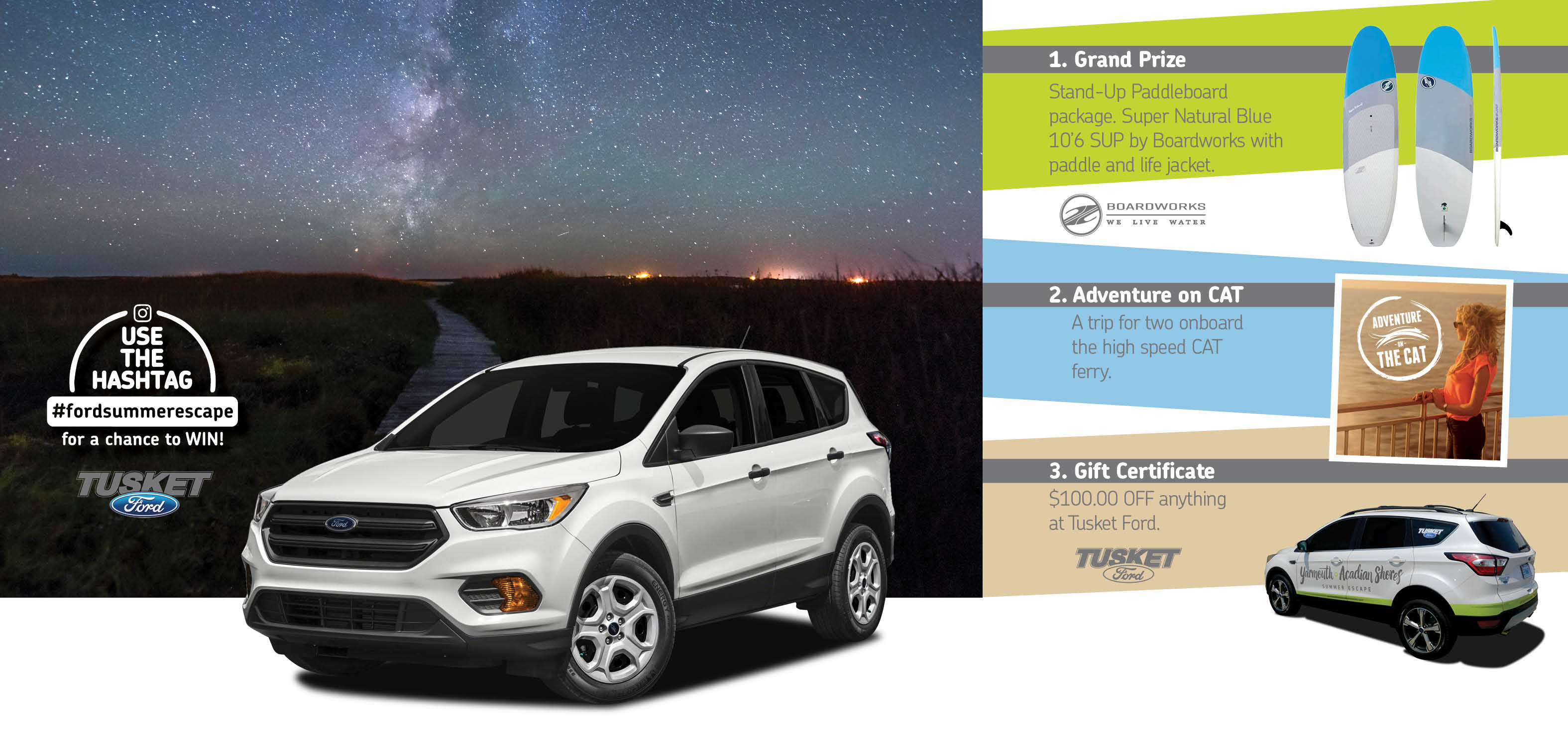 The Tusket Ford/Yarmouth and Acadian Shores Summer Escape