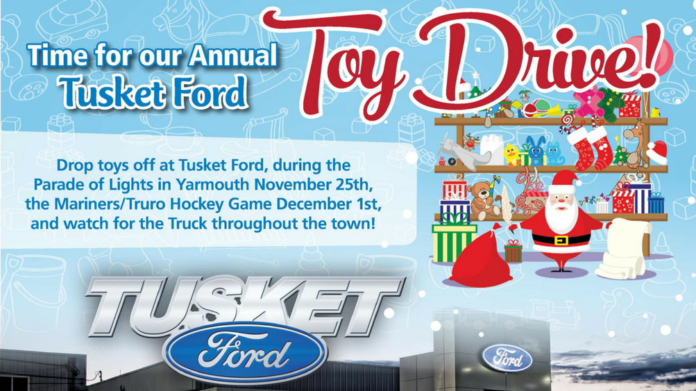 The Tusket Ford Toy Drive & Santa's F-150