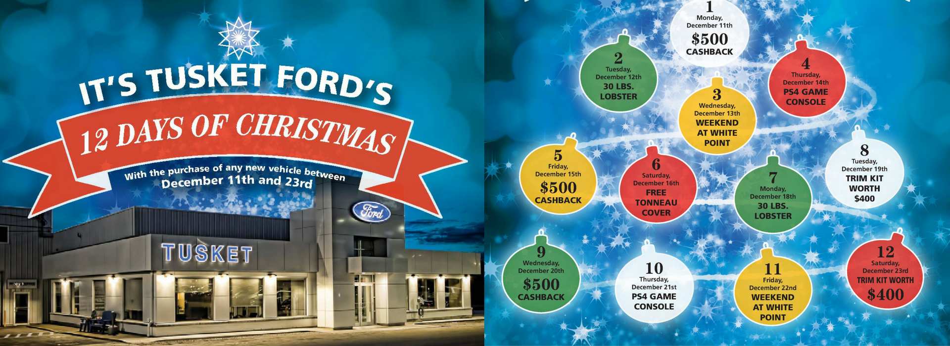 Tusket Ford's 12 Days of Christmas Event