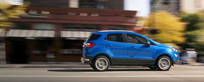 Blue Ford EcoSport