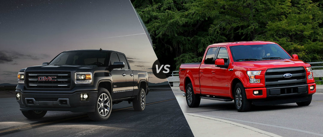 Gmc Sierra Vs Ford F 150 >> 2015 GMC Sierra vs 2015 Ford F-150