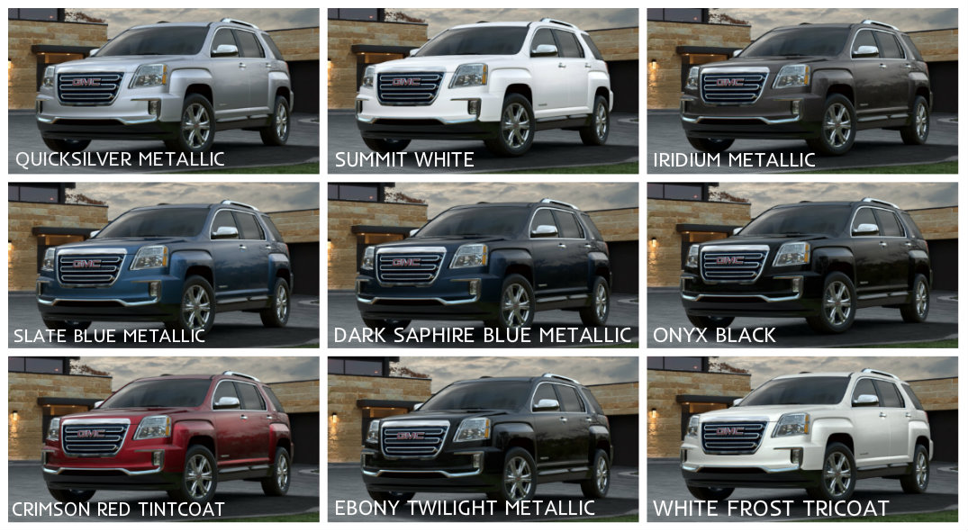 2016 GMC Terrain Features and Specs