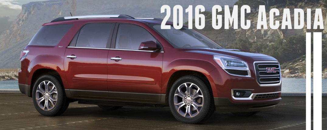 new features on the 2016 gmc acadia. Black Bedroom Furniture Sets. Home Design Ideas