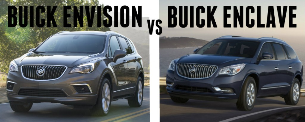 2016 Buick Envision vs 2016 Buick Enclave