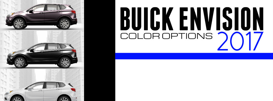 2017 Buick Envision Color Options