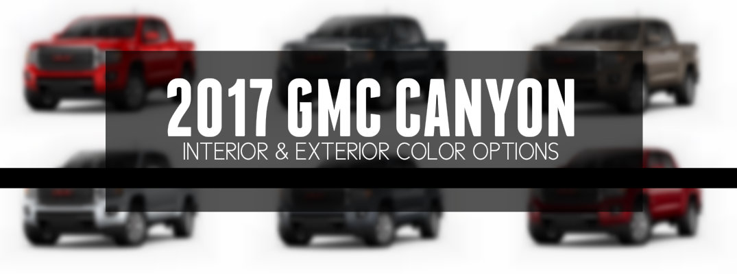 What Colors Are Available for the 2017 GMC Canyon?