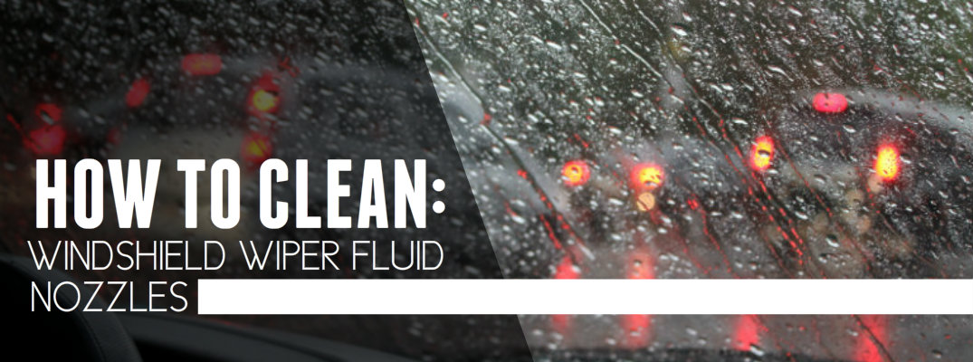 Cleaning a Blocked Windshield Wiper Fluid Nozzle