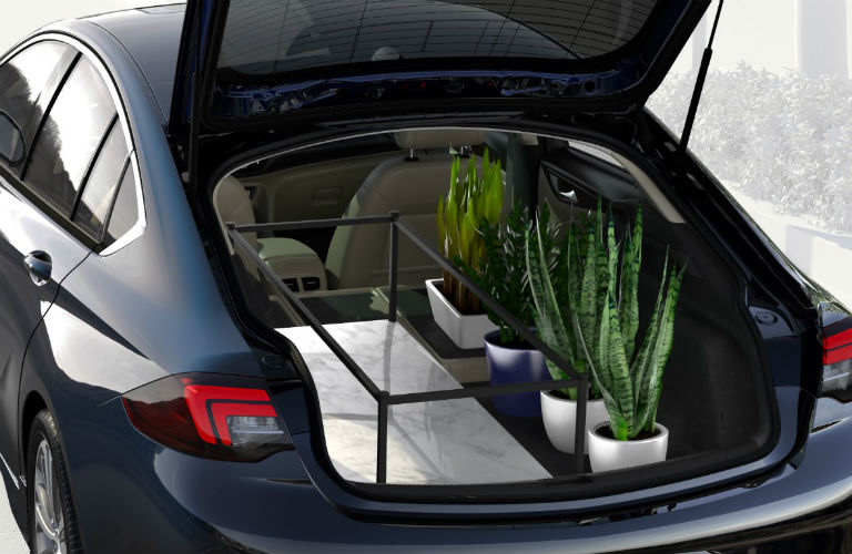 2018 Buick Regal Sportback cargo area full of items
