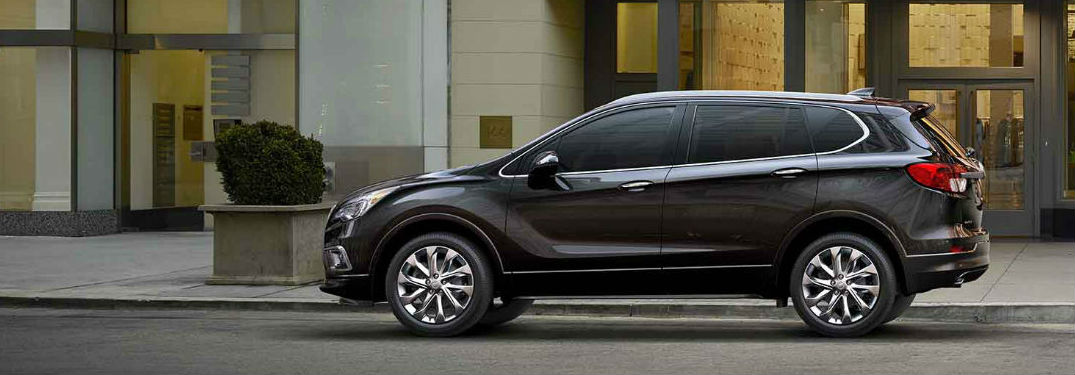 Black 2018 Buick Envision parked on the street