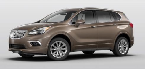 2018 Buick Envision Color Options