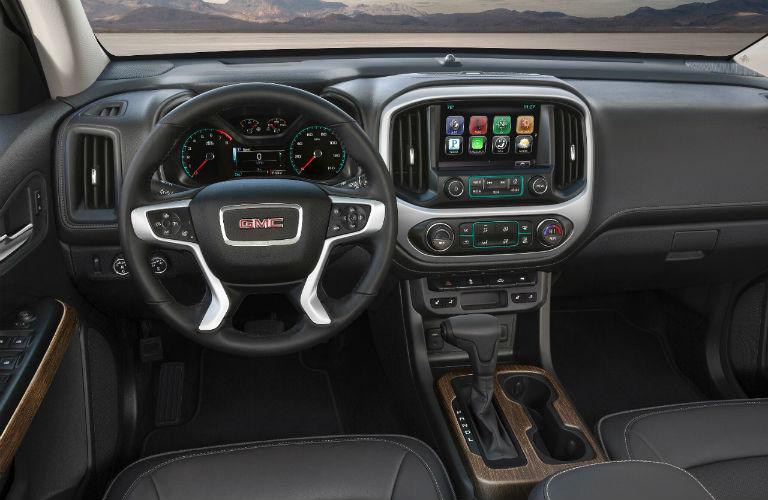 2018 GMC Canyon Denali Interior Dashboard And Steering Wheel