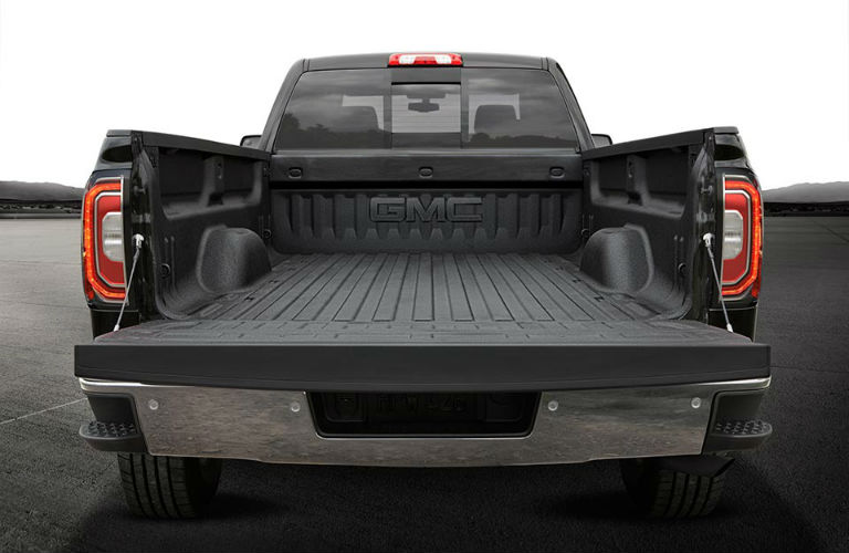 rear view of truck bed on 2018 GMC Sierra 1500