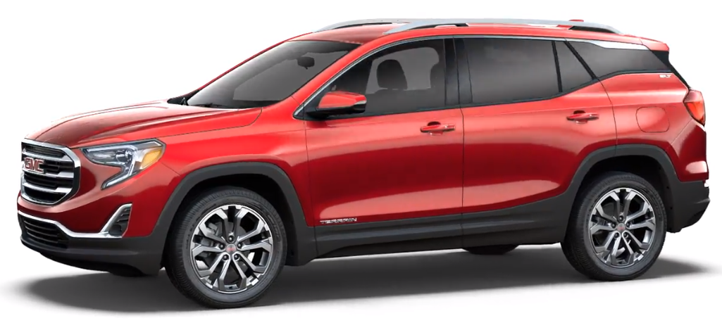Red 2018 GMC Terrain SLT trim