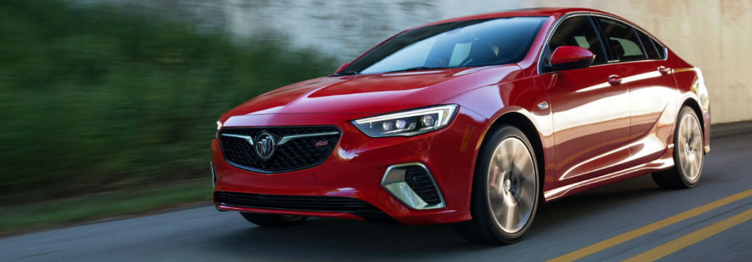 2018 Buick Regal GS driving down a road