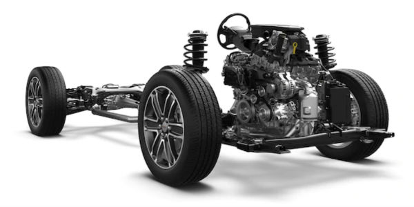 Cutaway View of the 2018 GMC Acadia Real-Time Suspension System