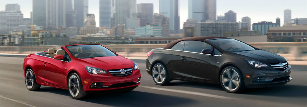 two 2019 Buick Cascada models driving down the road
