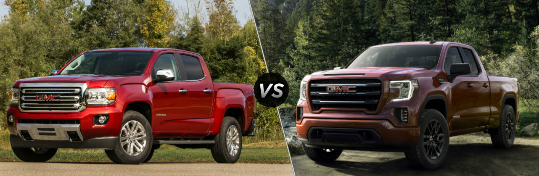 2019 GMC Canyon vs 2019 GMC Sierra