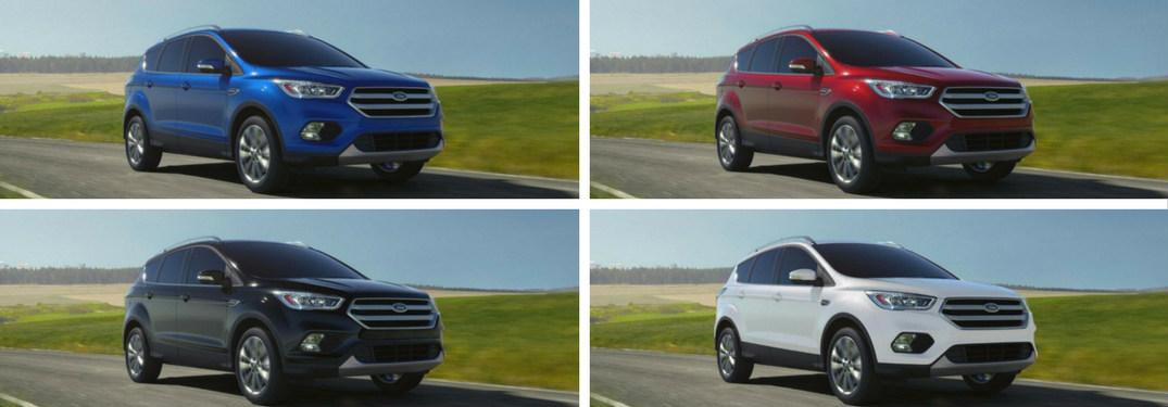 Collage of 2018 Ford Escape color options