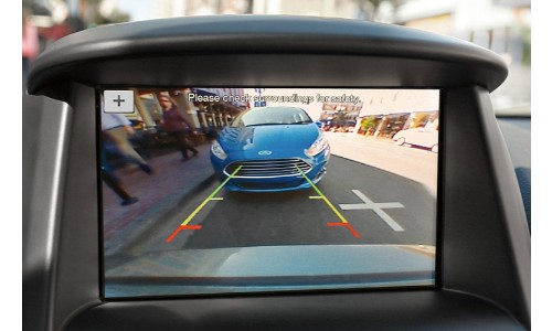 Rearview camera shot of Ford Fiesta