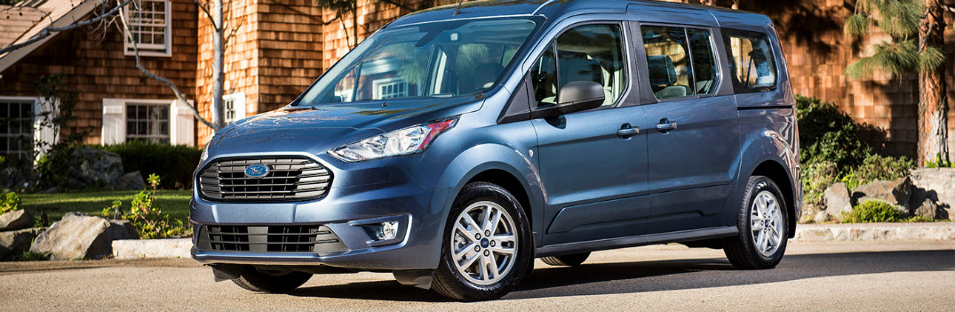 2019 Ford Transit parked outside home