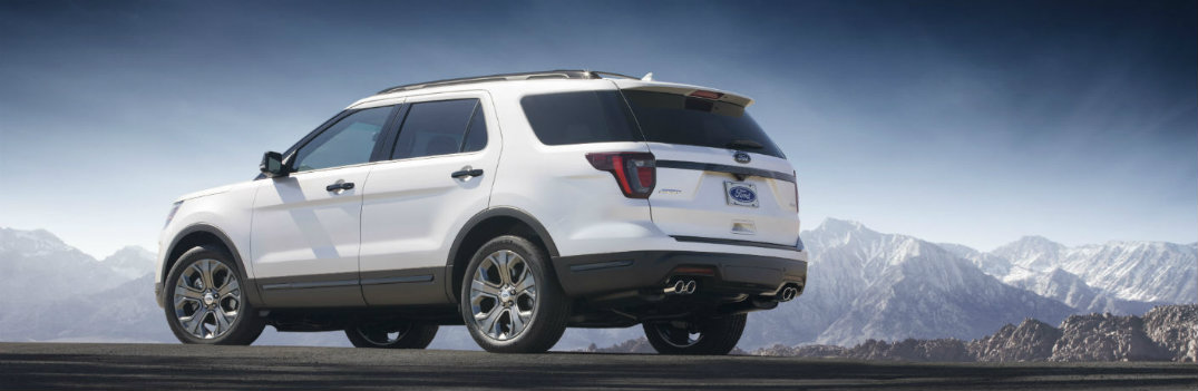 2019 Ford Explorer out in the frontier
