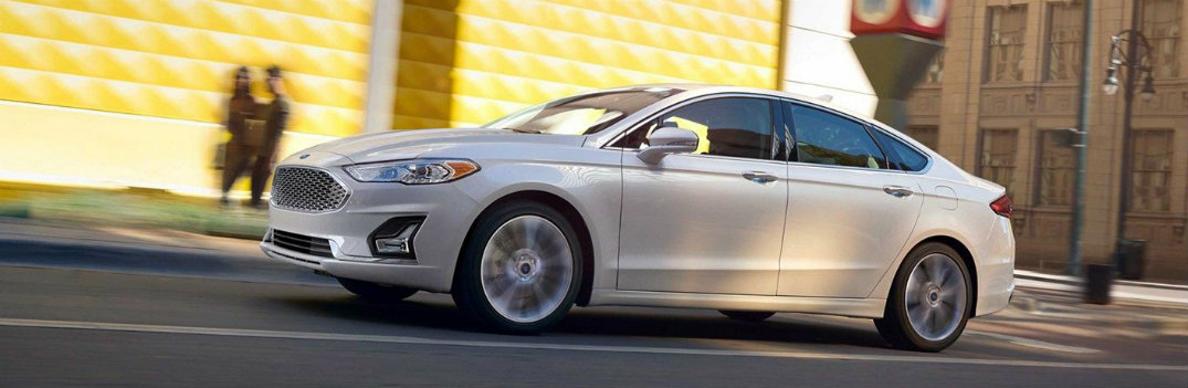 2019 Ford Fusion cruising the road