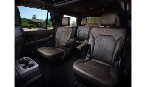 2020 Ford Expedition dark leather interior