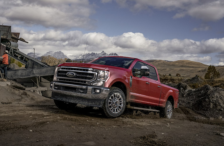 2020 Ford F-150 driving on dirt