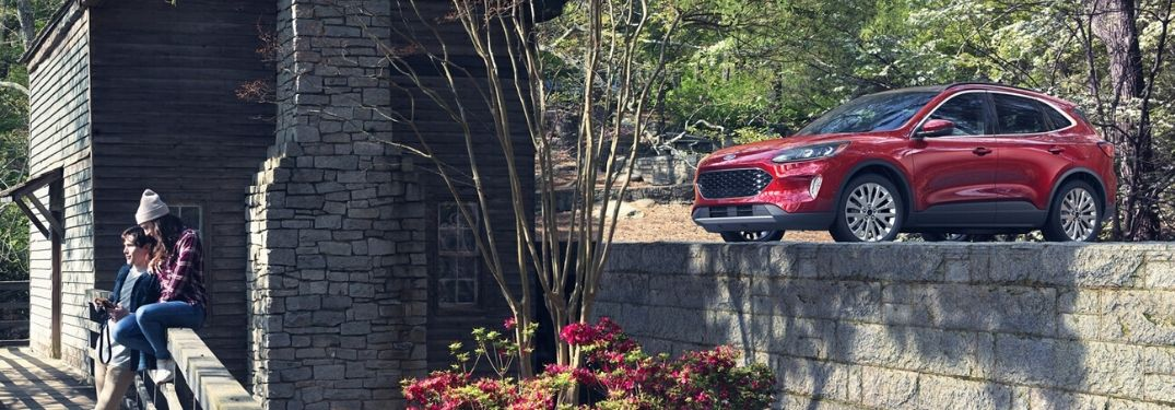 2020 Ford Escape parked outside on tall path