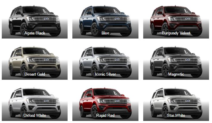 2020 Ford Expedition Exterior Color Paint Options