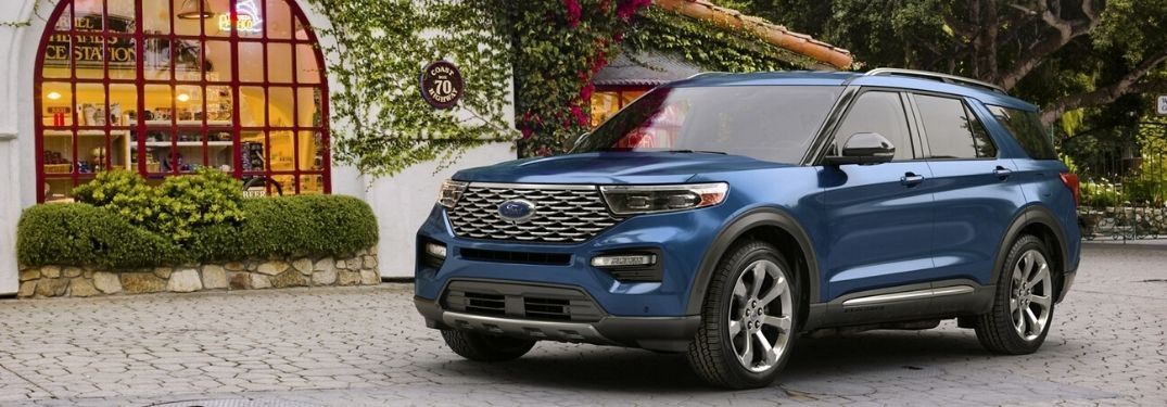 2020 Ford Explorer parked outside side view