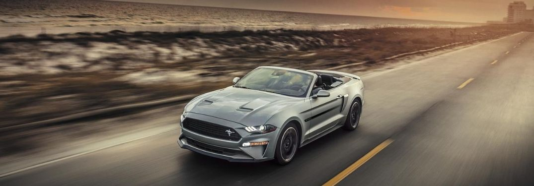 2020 Ford Mustang driving front down view